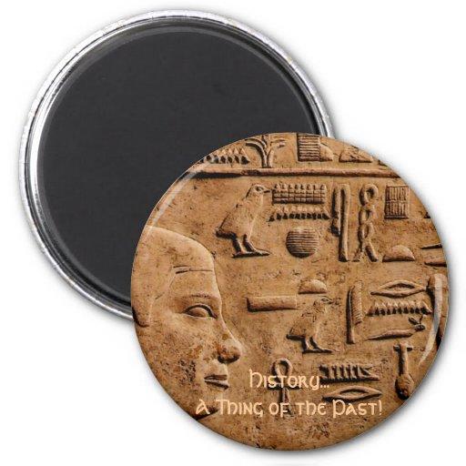 Artículos EGIPCIOS del regalo del arte del alivio Imán Redondo 5 Cm