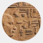 Artículos EGIPCIOS del regalo del arte del alivio Etiquetas Redondas