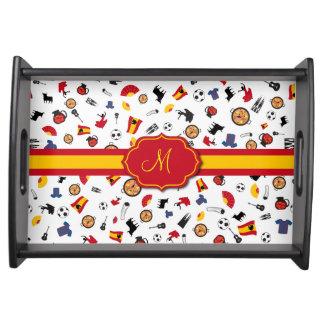 Artículos españoles con la bandera para añadir su bandejas