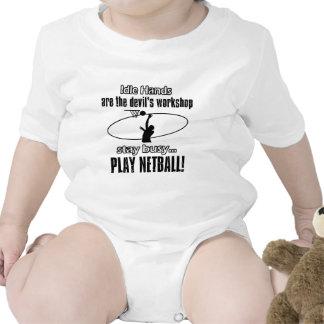 artículos impresionantes del regalo del netball traje de bebé