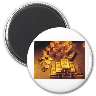 Artículos impresos de las ventas del oro imán redondo 5 cm