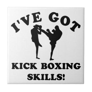 artículos kickboxing del regalo de la habilidad azulejo cuadrado pequeño