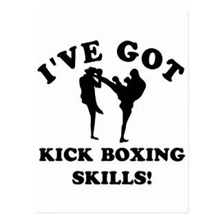 artículos kickboxing del regalo de la habilidad tarjetas postales