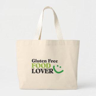 Artículos libres del amante de la comida del glute bolsa tela grande