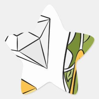 Artículos monetarios del diamante del efectivo del pegatina en forma de estrella