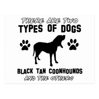 artículos negros del regalo del coonhound del tarjetas postales