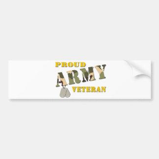 Artículos orgullosos del veterano del ejército pegatina para auto