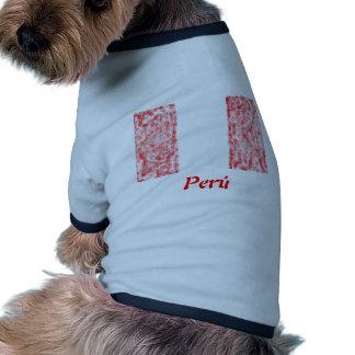 Artículos peruanos de la bandera camisetas mascota