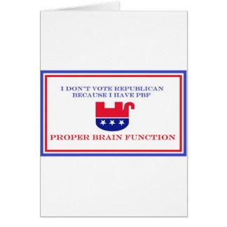 Artículos políticos tarjeta de felicitación