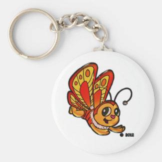 Artículos promocionales de Chloe de la mariposa Llavero Redondo Tipo Pin