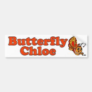 Artículos promocionales de Chloe de la mariposa Pegatina Para Auto