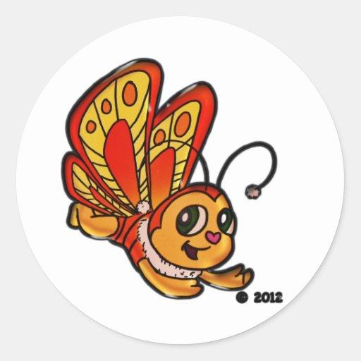 Artículos promocionales de Chloe de la mariposa Pegatina Redonda