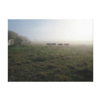 Artículos que ofrecen una escena rural lona estirada galerías