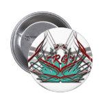 Artículos reflejos del logotipo del juego pins