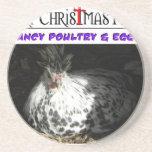Artículos relacionados de la granja del navidad de posavasos personalizados