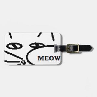 Artículos temáticos del gato etiqueta para maleta