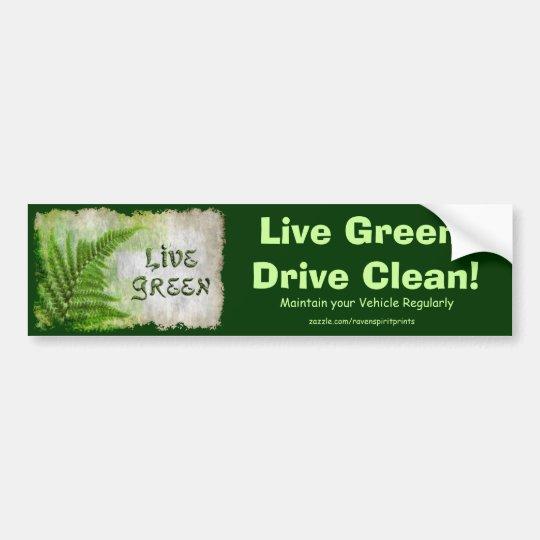 Artículos VERDES VIVOS del regalo de Eco Enviro Pegatina Para Auto