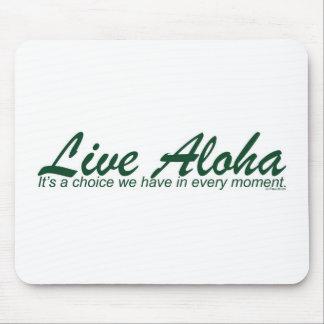 Artículos vivos del diseño de la hawaiana de Paul  Alfombrillas De Ratón
