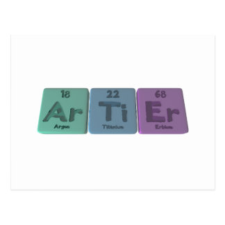 Artier-Ar-Ti-Er-Argon-Titanium-Erbium Postcard