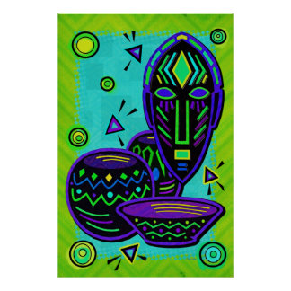 Artifact African Pop Art Print