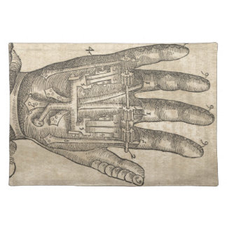 Artifical hand placemat