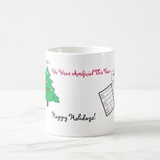 Artificial Christmas Tree Cartoon Coffee Mug