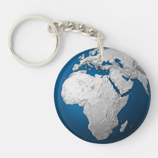 Artificial Earth - Africa. 3d Render Keychain