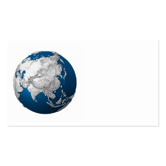 Artificial Earth - Asia. 3d Render Business Card
