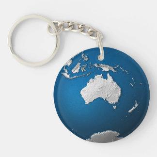 Artificial Earth - Australia. 3D Render Keychain