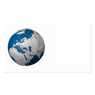 Artificial Earth - Europe. 3d Render Business Card