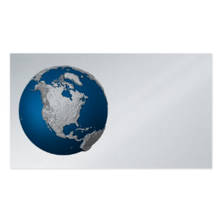 Artificial Earth - North America. 3d Render Business Card