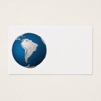 Artificial Earth - South America. 3d Render Business Card