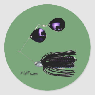 Artificial Fishing Baits Classic Round Sticker