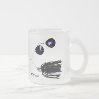 Artificial Fishing Baits Frosted Glass Coffee Mug
