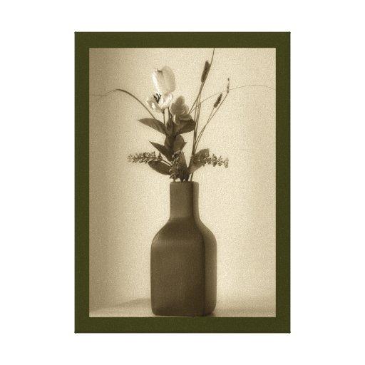 Artificial Flower Wrapped Canvas Canvas Prints