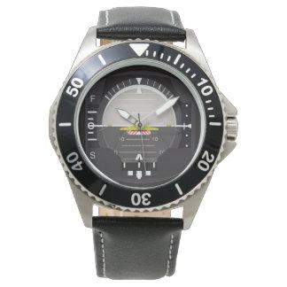 artificial horizon wristwatch