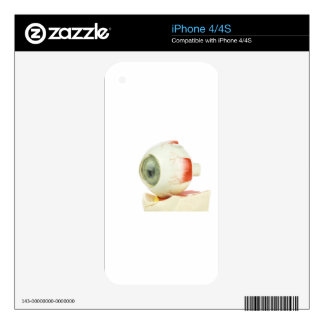 Artificial human eye decals for the iPhone 4S