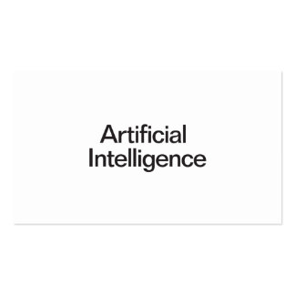 Artificial Intelligence Double-Sided Standard Business Cards (Pack Of 100)