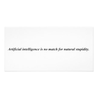 Artificial intelligence has met it s match photo card