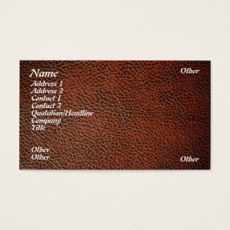 Artificial leather business card