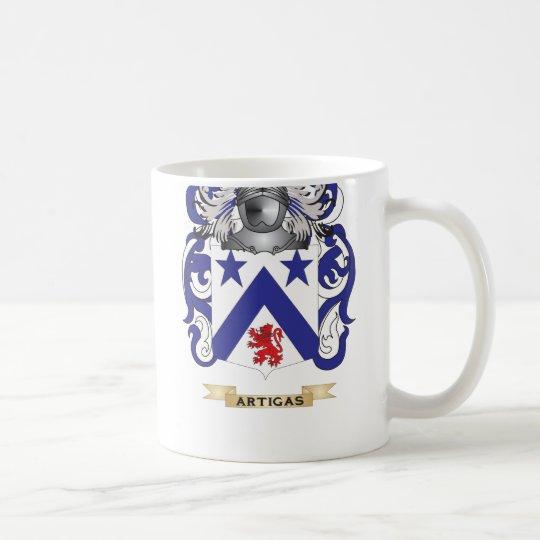 Artigas Coat of Arms (Family Crest) Coffee Mug