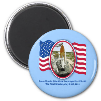 Artiistic Rendering of Space Shuttle Atlantis 2 Inch Round Magnet
