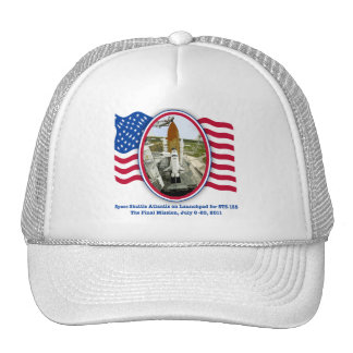 Artiistic Rendering of Space Shuttle Atlantis Trucker Hat