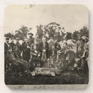 Artillería americana de Washington del batallón de Posavasos