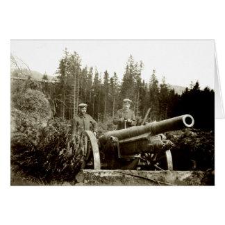 Artillería de 1915 alemanes tarjeta de felicitación
