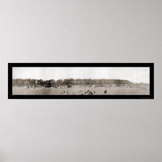 Artillería de campaña WWI 1918 Póster