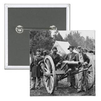 Artillería de la guerra civil, 1860s pin cuadrado