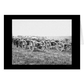 Artillería en Richmond, VA 1862 Tarjeta De Felicitación