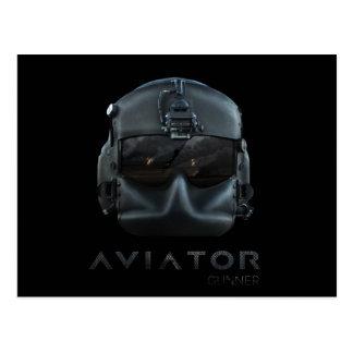 Artillero del aviador postales