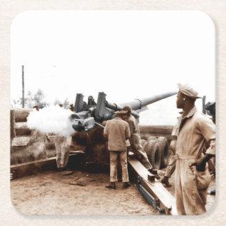 Artilleros afroamericanos WWII Posavasos Desechable Cuadrado